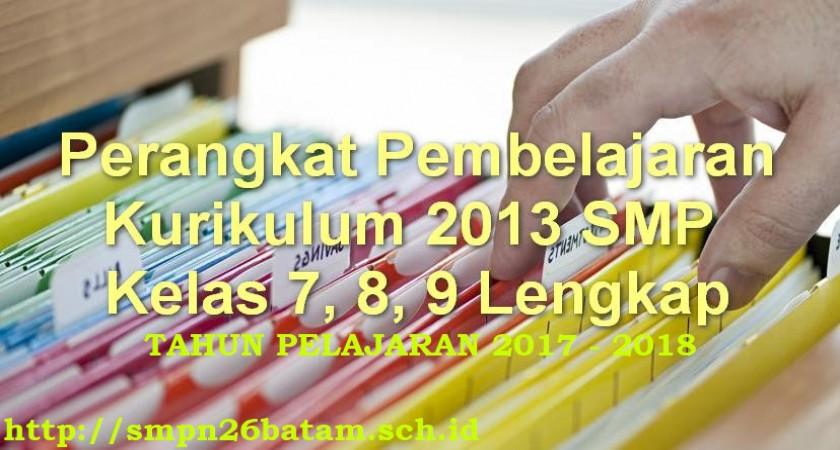 Perangkat Pembelajaran Kurikulum 2013 Smp Kelas 7 Amp 8 Lengkap Manajemen Pendidikan Net