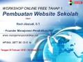 Pengenalan Workshop Online Free Membuat Website Sekolah
