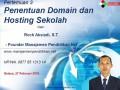 03 Modul 3 Penentuan nama domain sekolah dan hosting – Workshop Online Free Pembuatan Website Sekolah