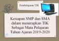 Surat Edaran Kesiapan 588 Sekolah dalam menerapkan Informatika sebagai Mata Pelajaran pada tahun pelajaran 2019-2020