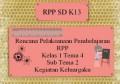 Rencana Pelaksanaan Pembelajaran RPP K13 Kelas 1 Tema 4 Sub Tema 2 Anggota Keluargaku