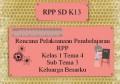 Rencana Pelaksanaan Pembelajaran RPP K13 Kelas 1 Tema 4 Sub Tema 3 Keluarga Besarku